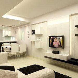 Telewizor i jasny pokój