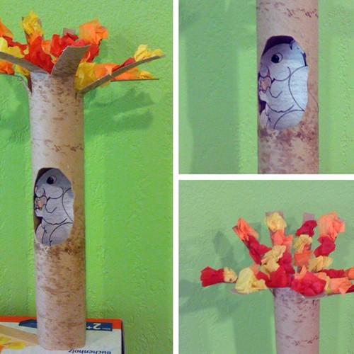 Ciekawy pomysł na zrobienie wiewiórki z rolki papieru