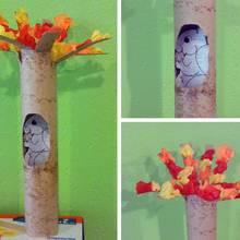 Pomysł na zrobienie wiewiórki z rolki papieru
