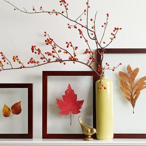 Ciekawy sposób dekorowania wnętrz jesienią