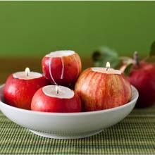 Prosty sposób wykonania świeczników z jabłek