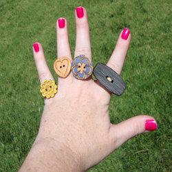 Jak wykorzystać guzik do zrobienia pierścionka?