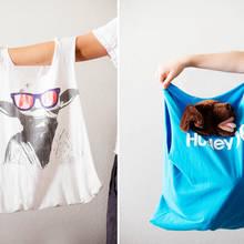 Jak zrobić ciekawą torbę z koszulki?