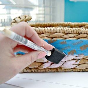 Koszyk ze sznurka papierowego – krok czwarty