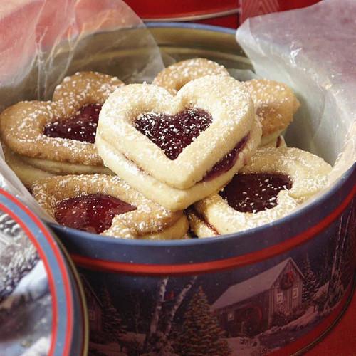 Doskonałe ciasteczka – serca z galaretką