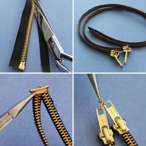 Jak przygotować bransoletkę z zamka błyskawicznego?
