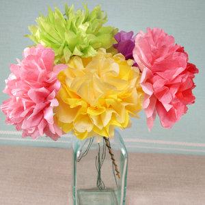 Prosty sposób wykonania kwiatów z bibuły