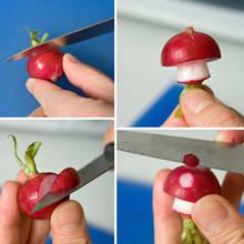 Jak zrobić zabawnego muchomora z rzodkiewki?