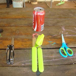 Jak zrobić palnik z puszki – krok pierwszy