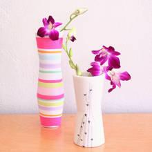 Jak ładnie ozdobić wazon materiałem?