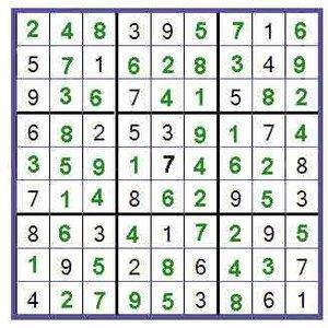 Rozwiązywanie sudoku – krok czwarty