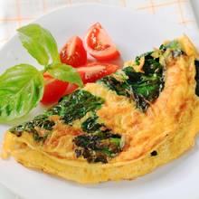 Sposób przygotowania omletu ze szpinakiem