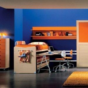 Pomarańczowy i niebieski