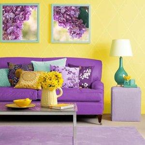 Żółty i fioletowy