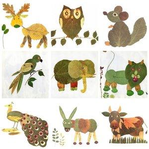 Jak zrobić zwierzątka z liści?
