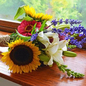 Bukiet z polnych kwiatów – krok trzeci