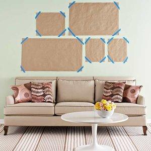 Jak rozplanować położenie obrazów na ścianie?